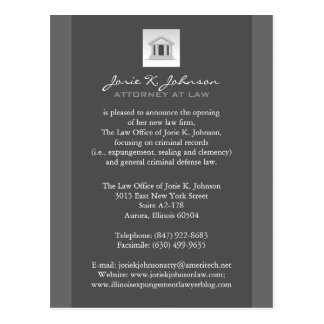 Law Firm Announcement Cards Post Cards