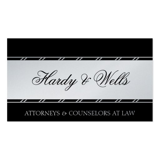 Law Firm Attorney Lawyer Legal Counsellor Platinum Business Card Templates