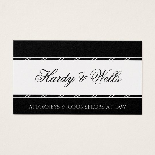 Law Firm Attorney Lawyer Legal Counsellor Platinum Business Card