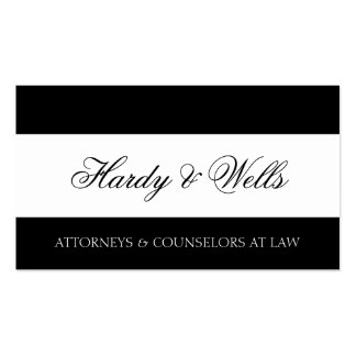 Law Firm B/W - Available Letterhead - Business Cards