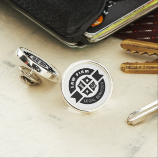Law Firm   Legal Services Black Lapel Pin