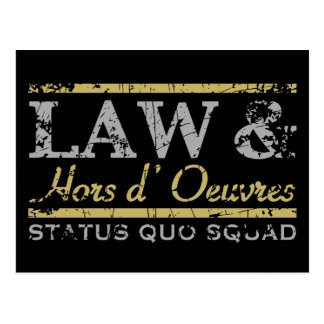 Law & Hors d' Oeuvres Postcard