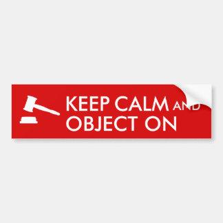 Law Lawyer Keep Calm Bumper Sticker Judge's Gavel