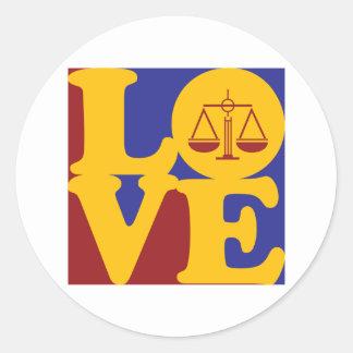 Law Love Round Sticker
