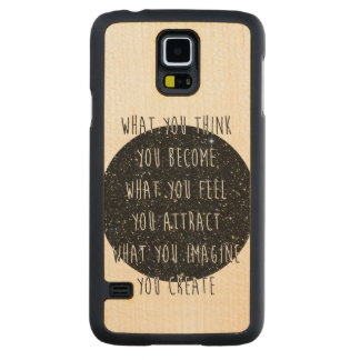 """Law of Attraction"" Maple Wood Galaxy S5 Case"