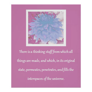 Law of Attraction Quote - Dahlia Poster