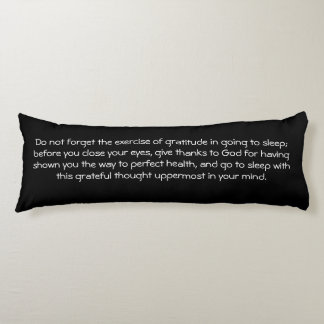 Law of Attraction Quote Gratitude - Dahlia Body Cushion