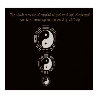 Law of Attraction Quote -Ying Yang Poster