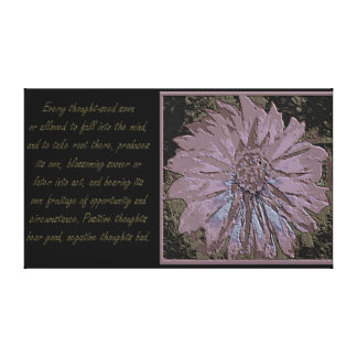 Law of Attraction Quotes Stretched Canvas Prints