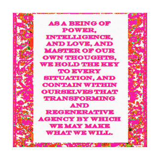 Law of Attraction Quotes Gallery Wrap Canvas
