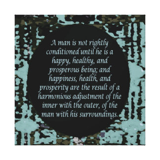 Law of Attraction Quotes Canvas Prints