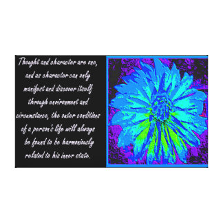Law of Attraction Quotes Stretched Canvas Print