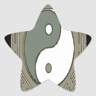 Law of Attraction - Ying Yang Star Sticker