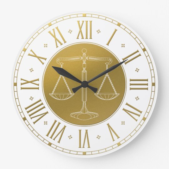 LAW OFFICE   Scales of Justice Large Clock