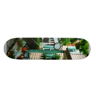 Law Office With Clock Skateboard Deck