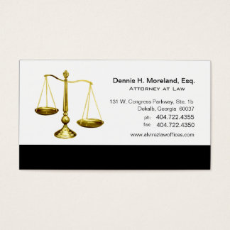 Law Offices Attorney Lawyer Scales of Justice Business Card