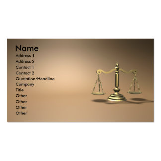 Law Pack Of Standard Business Cards