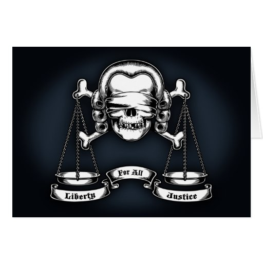 Law Pirate Greeting Card