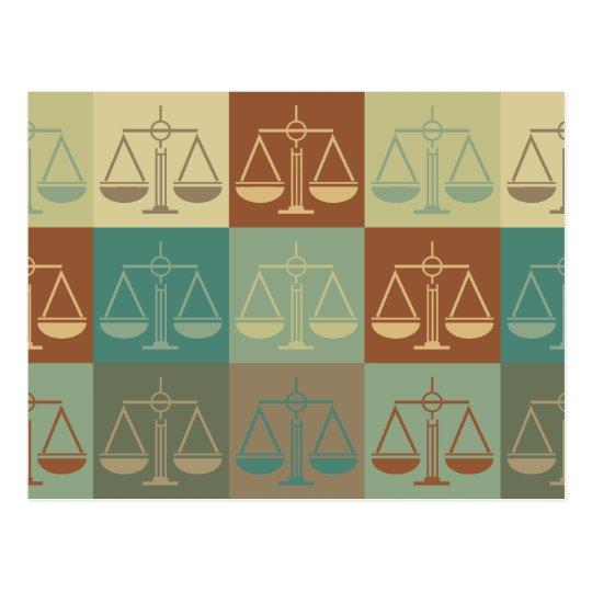 Law Pop Art Postcard