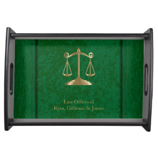 Law | Scales of Justice | Customizable Serving Trays