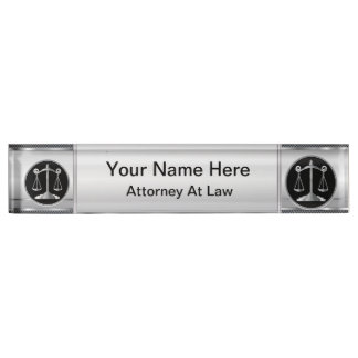 Law | Scales of Justice | Lawyer Name Plate