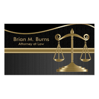Law | Scales of Justice | Lawyer Pack Of Standard Business Cards