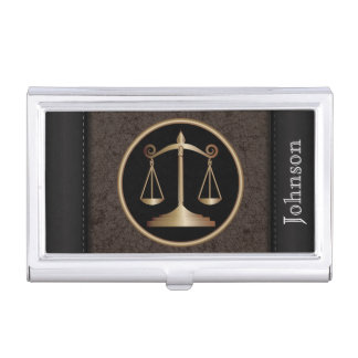 Law | Scales of Justice | Personalize Business Card Cases