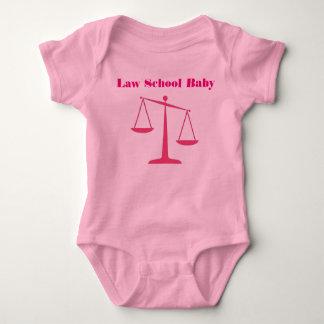 Law School Baby Romper (Pink Ink) Baby Bodysuit