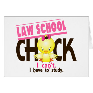 Law School Chick 1 Greeting Cards