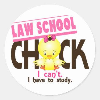 Law School Chick 1 Round Sticker