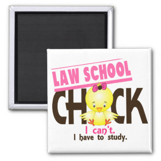 Law School Chick 1 Square Magnet