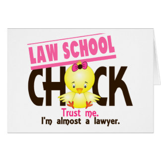 Law School Chick 3 Greeting Card