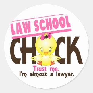 Law School Chick 3 Round Sticker