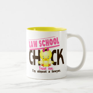 Law School Chick 3 Two-Tone Mug