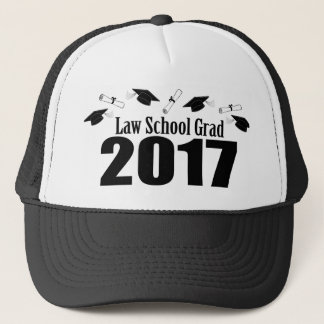 Law School Grad 2017 Caps And Diplomas (Black)
