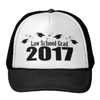 Law School Grad 2017 Caps And Diplomas (Black) Cap