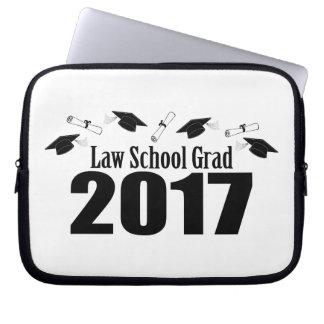 Law School Grad 2017 Caps And Diplomas (Black) Laptop Sleeve