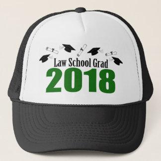 Law School Grad 2018 Caps And Diplomas (Green)