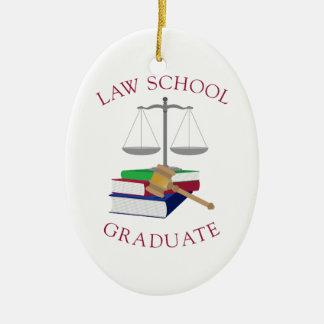 Law School Graduate Ceramic Ornament