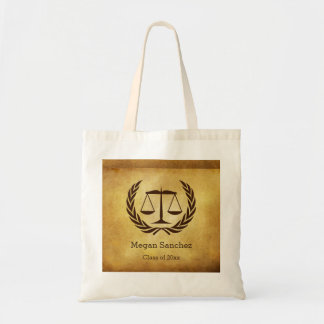 Law School Graduate scales of justice Tote Bag
