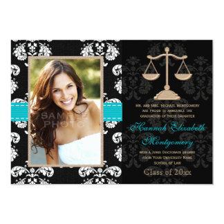 """Law School Graduation Announcements Invites Blue 5"""" X 7"""" Invitation Card"""
