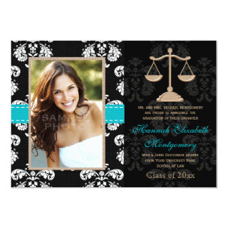 Law School Graduation Announcements Invites Blue
