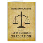 Law School Graduation Custom Personalised Card