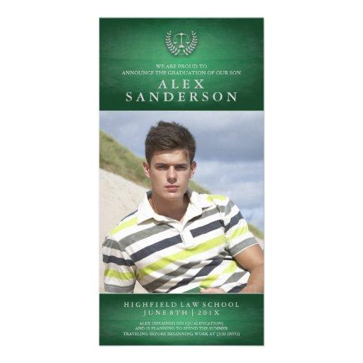 Law School Graduation Photo Card | Green