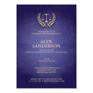 Law School Graduation with Laurel Wreath & Scales 13 Cm X 18 Cm Invitation Card