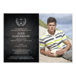 Law School Graduation with Laurel Wreath & Scales Personalised Invite