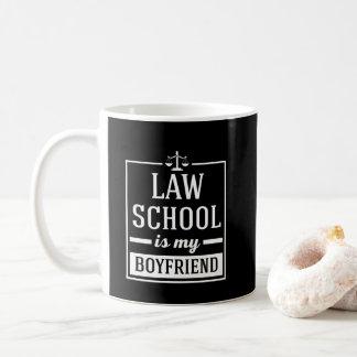 Law School Is My Boyfriend Funny Law Student Print Coffee Mug