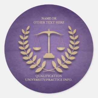 Law School | Justice Scales and Laurel Wreath Round Sticker