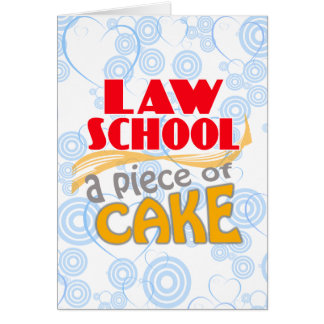 Law School - Piece of Cake Greeting Card