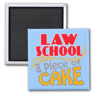 Law School - Piece of Cake Fridge Magnets
